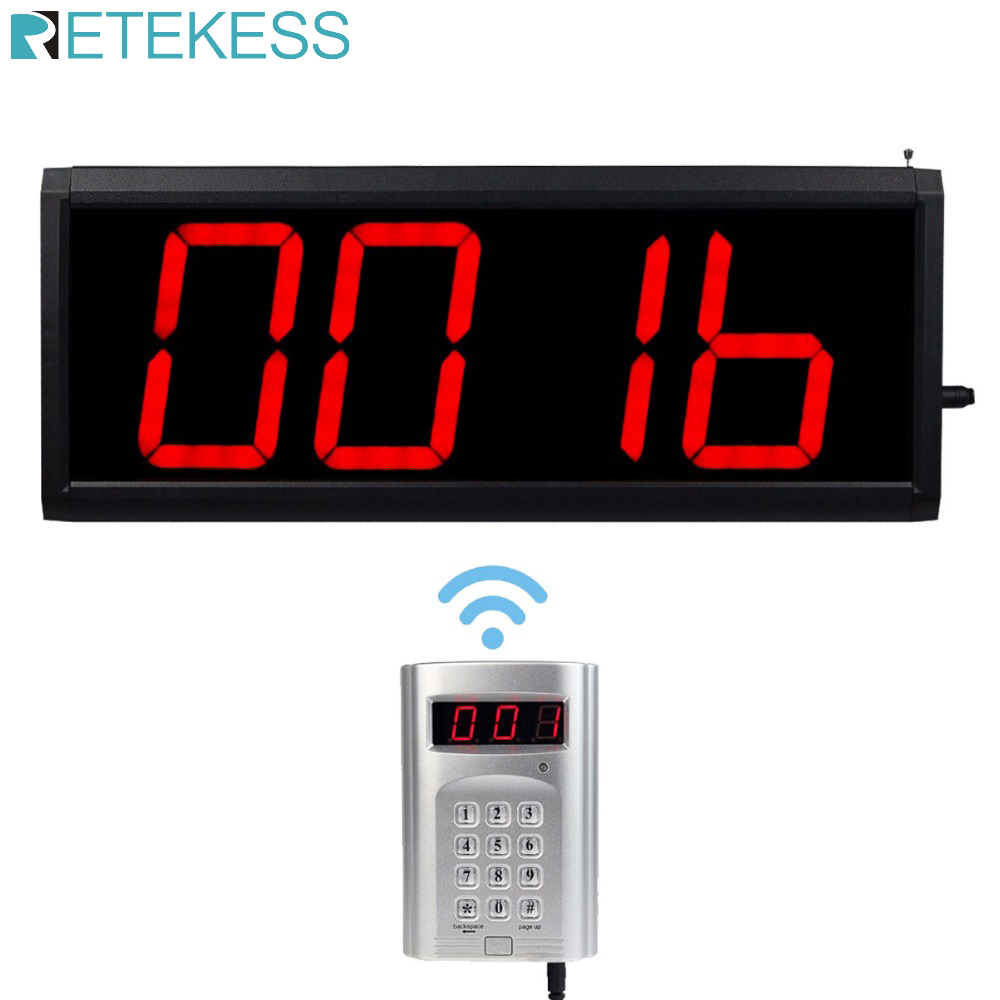 Wireless Call Number System Restaurant Paging Queuing System 1 Keyboard Transmitter + 1 Host With PC Control F4410D