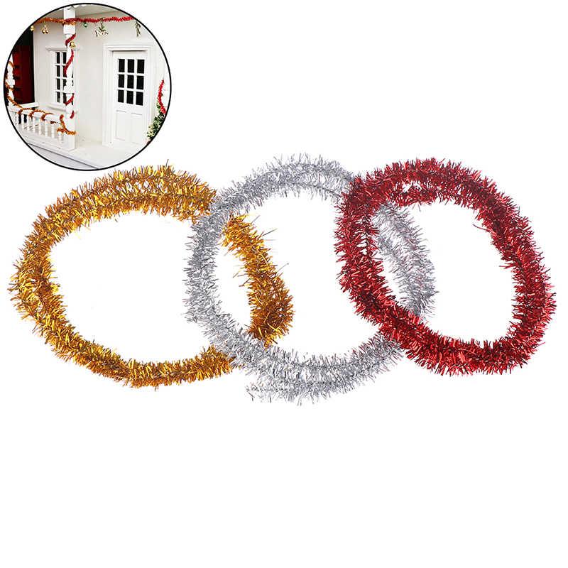 1:12 casa de muñecas miniatura DIY rayas decorativas para casas de muñecas decoración de Navidad