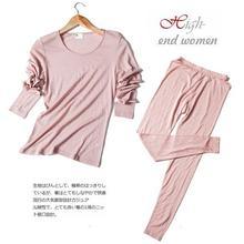 70% Wool 30% Silk Women's Base Layer Warm Thermal Underwear Long Johns