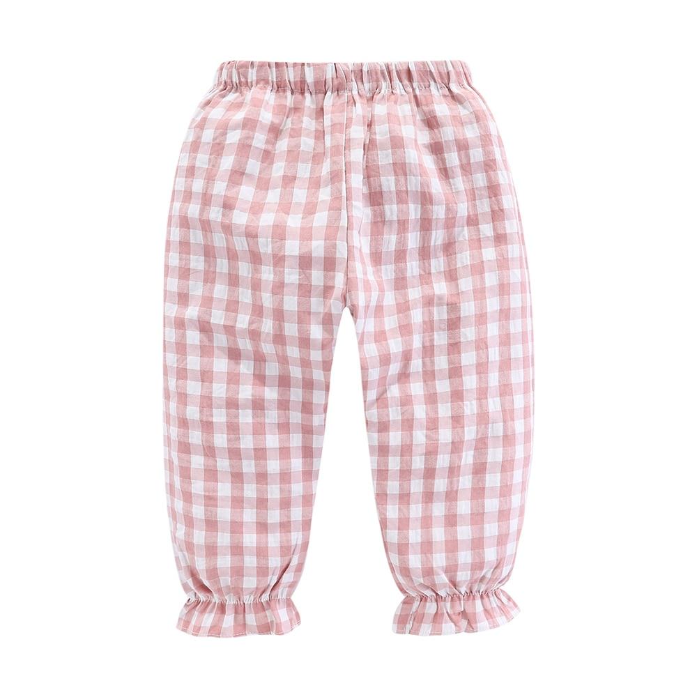 Mudkingdom Girls Pajama Set Peter Pan Collar Cute Plaid Kids Homewear Casual Toddler Pajamas Kids Sleepwear 5