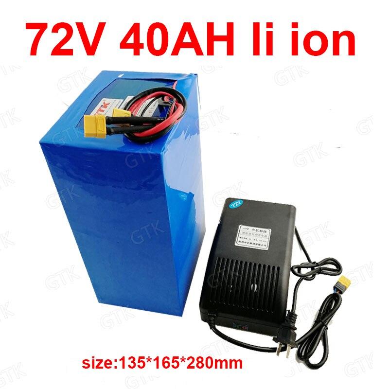 GTK-batería de iones de litio BMS 20S, 72v, 40Ah, batería de iones para 2000w, 3500w, 7000w, inversor de scooter go cart, cargador para motocicleta + 5A
