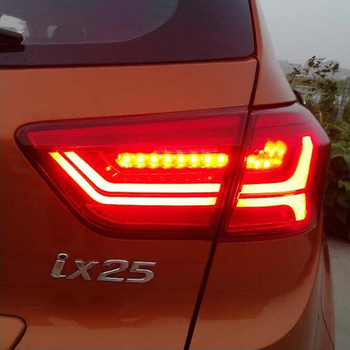 Car Styling for Hyundai IX25 Tail Lights 2013-2018 Creta LED Tail Lamp LED DRL Dynamic Signal Brake Reverse auto Accessories