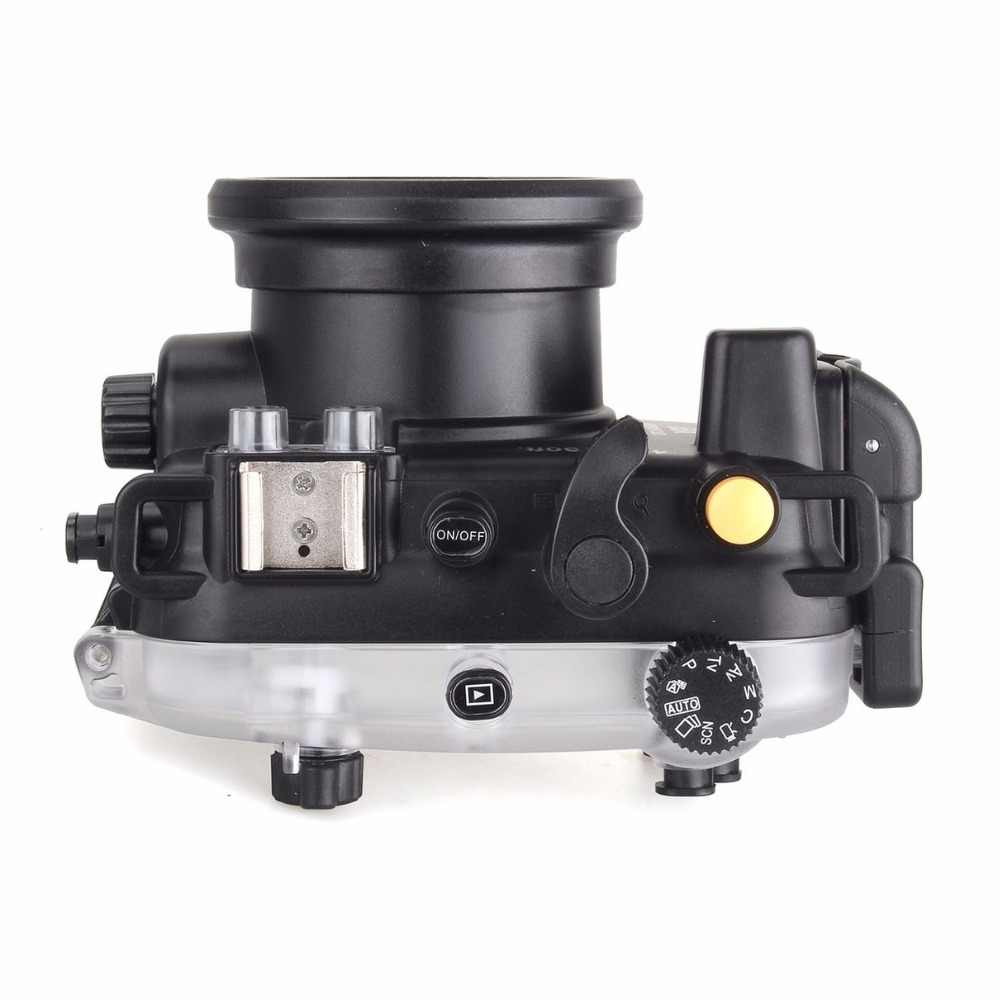 Image 3 - 40 متر/130FT تحت الماء كاميرا مقاومة للماء الإسكان الغوص الحال بالنسبة لكانون PowerShot G9X + 67 مللي متر الأحمر تصفيةcase for canonwaterproof camera housingwaterproof case for camera -