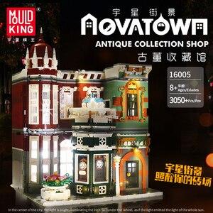 Image 5 - Moc Stad Straat Bakstenen Antieke Collectie Winkel Compatibel Met Lepined Schepper 10185 Groene Grocer Model Bouwstenen Diy Speelgoed