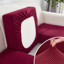 Sofa Seat Cushion Cover Elastic Solid Color Pets Furniture Protector Stretch Washable 1/2/3/4 Seats L-shape Sofa Slipcover