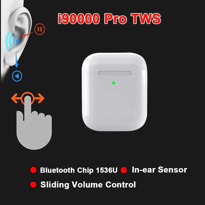 I90000Pro TWS Arie 2 Wireless Earphone 8D Super Bass Bluetooth 5.0 Earphone Sliding Volume Adjustment Earbuds PK I5000 I9000TWS
