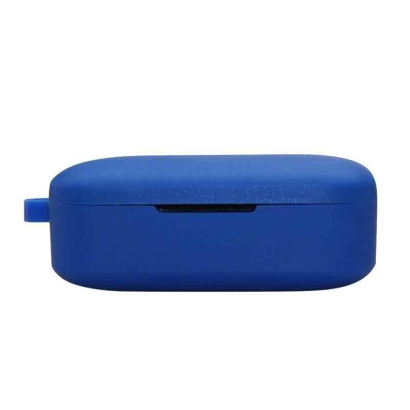 シリコン保護 Bluetooth ヘッドセットカバーポータブル保護ケースとバックル QCY ため T5 イヤホン