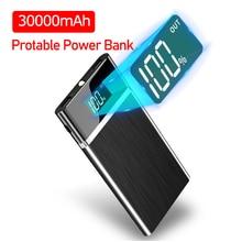 Power Bank 30000mAh Portable Charging PowerBank Double USB P
