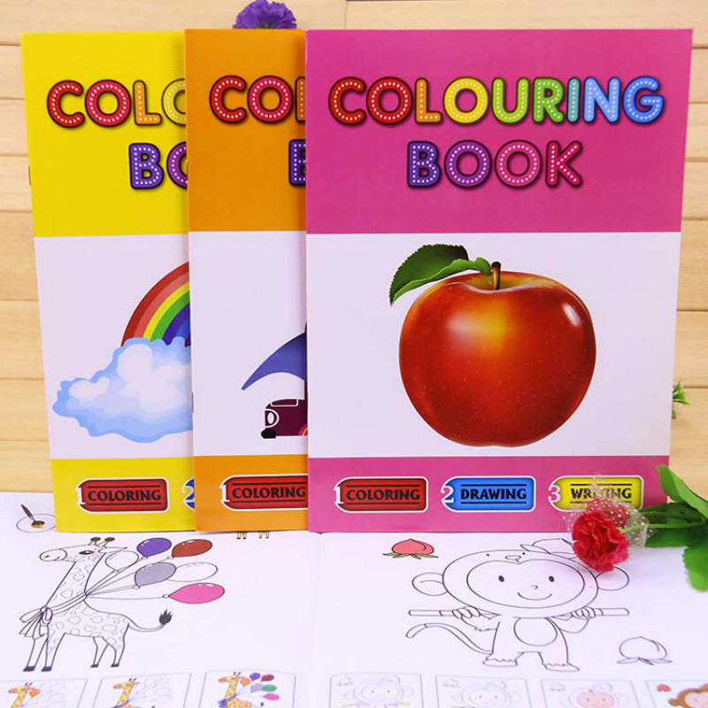 English children's coloring picture book Drawing Book Children's kindergarten 2-3-6 year old Drawing Toys gift toys & hobbies