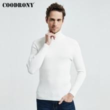 COODRONY חג המולד סוודר גברים בגדי 2020 חורף עבה חם מזדמן סריגי גולף סוודר קלאסי טהור צבע Jumper 8253