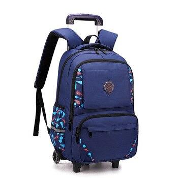 Trolley Children School Bags Mochila Kids Backpacks With Wheel Luggage For Girls Boys backpack Escolar Backbag Schoolbag