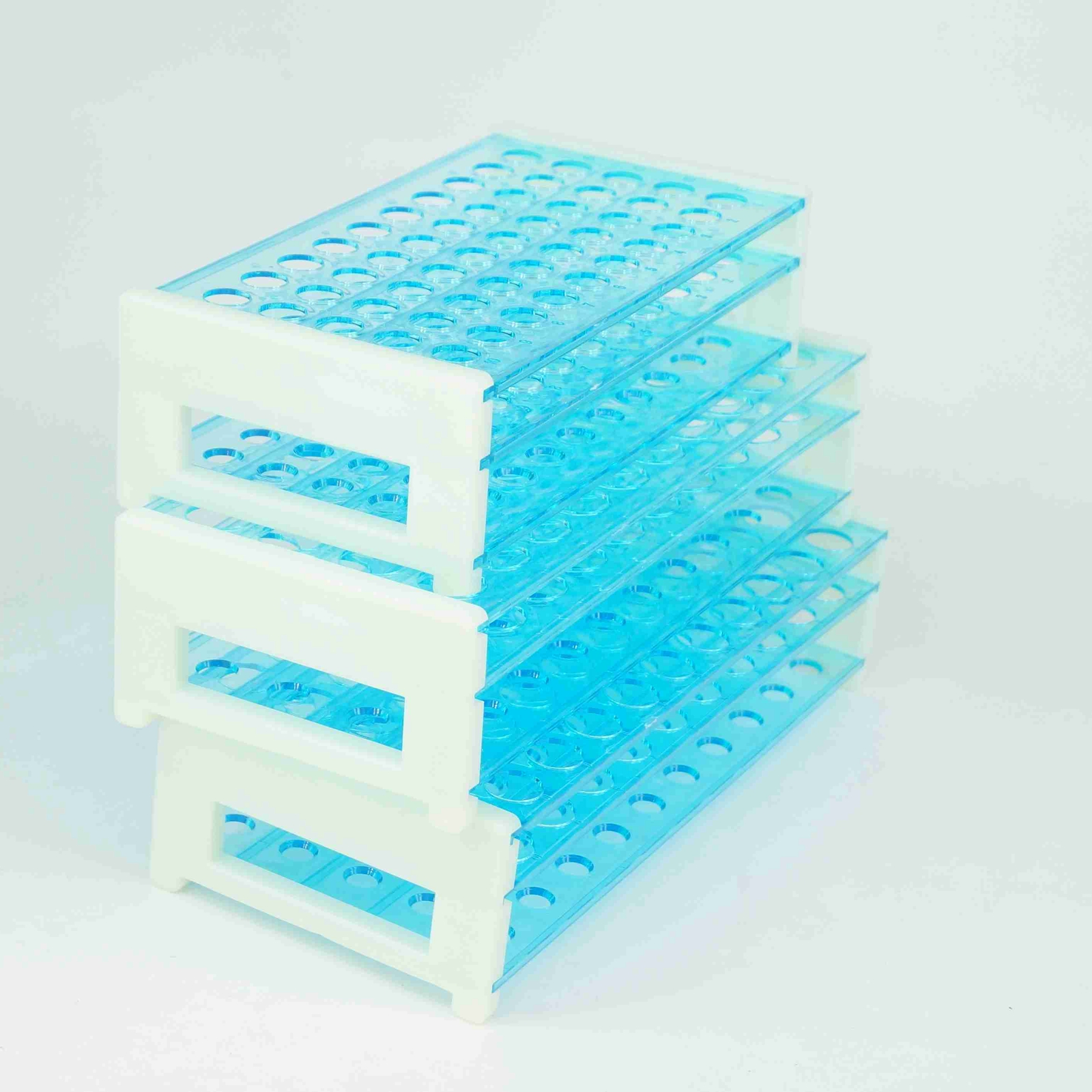 13/16/18mm Diameter 50/50/40 Holes Plastic Double Deck Test Tube Stand Rack