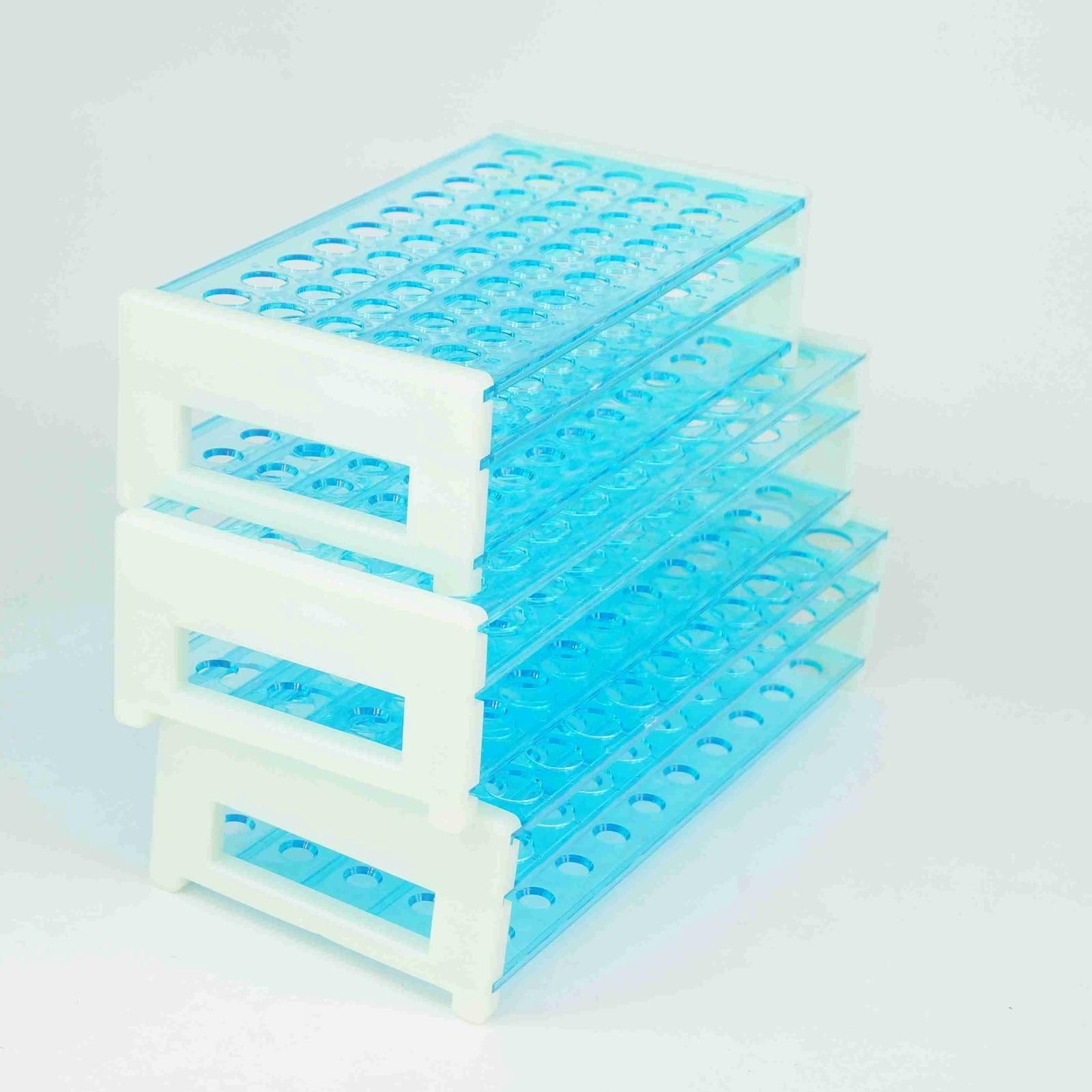 13/16/18mm Diameter 50/50/40 Holes Plastic Double Deck Test Tube Stand Rack