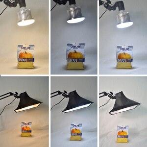 Image 2 - Светодиодный светильник, заполняющая лампа, софтбокс с отражателем, Настольная подвеска, кронштейн для телефона, видеосъемка в реальном времени, стол для фотостудии