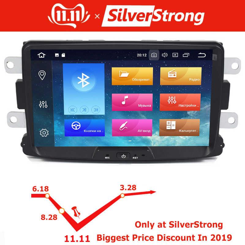 SilverStrong reproductor Multimedia para coche Android 9 automotriz radio para Dacia Sandero pluster Renault capture Lada Xray 2 Logan