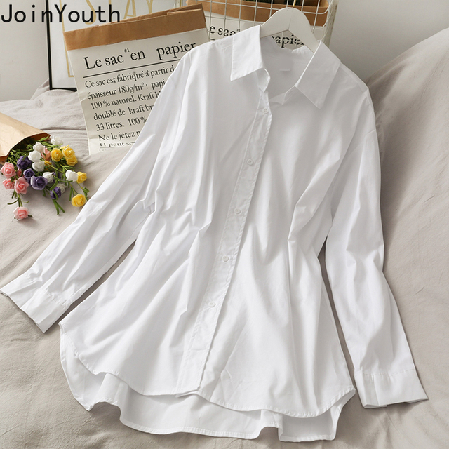 Joinyouth Irregular Shirts Blusas Mujer De Moda 2020 Patchwork Knitwear Tops Korean Blouses Two Piece Sets Blouse Female Clothes 2