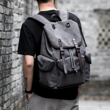 MOYYI Retro Backpack 15 inch Laptop Men's Trend School Student School Bags Casual Simple Travel Tackpack Women's Bags