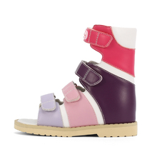 Sandals Orthopedic-Shoes Ortoluckland Children Girls Kids High-Top Platform Backdrop