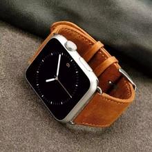 Nowy projekt pasek ze skóry naturalnej dla Apple IWatch 42mm 38mm 40mm 44mm pasek na rękę dla Apple Watch Series 5 4 3 2 1 tanie tanio iwujiao 20 cm Skóra Nowy z metkami for apple watch 5 4 3 2 1 watchband