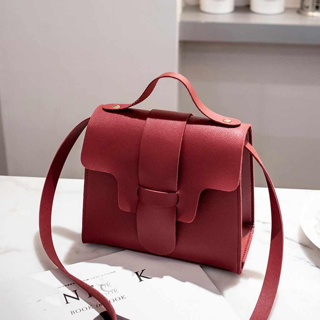 Weibliche Crossbody-tasche Taschen Frauen 2019 Mode Weichem Leder Einfarbig Crossbody Messenger Damen Handtasche Geldbörse Schulter Taschen