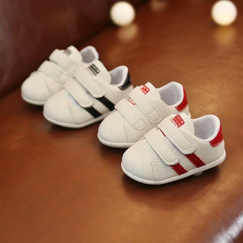 0 à 18 mois bébé garçons et filles chaussures enfant en bas âge chaussures de sport nouveau-né fond souple première marche chaussures de mode antidérapantes 4