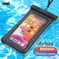 Bolsa de aire impermeable para teléfono móvil, funda de natación a prueba de agua para iPhone 11, 6, 7, 8 Plus, X, XS, XR, SE, Samsung S20, S10, Huawei P40, P30, P20