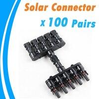 100 Pairs/Lot M/FM Solar Panel 5 zu 1 T Zweig 30A Solar Panel Stecker Kabel Koppler combiner Panel Kabel Anschlüsse-in Steckverbinder aus Licht & Beleuchtung bei