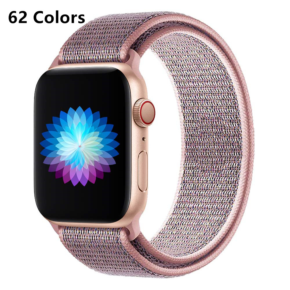 Band For Apple Watch 4 5/3/2/1 38MM 42MM 62 NewColors Nylon Soft Breathable Replacement Loo Strap For Iwatch Series 4 40MM 44MM