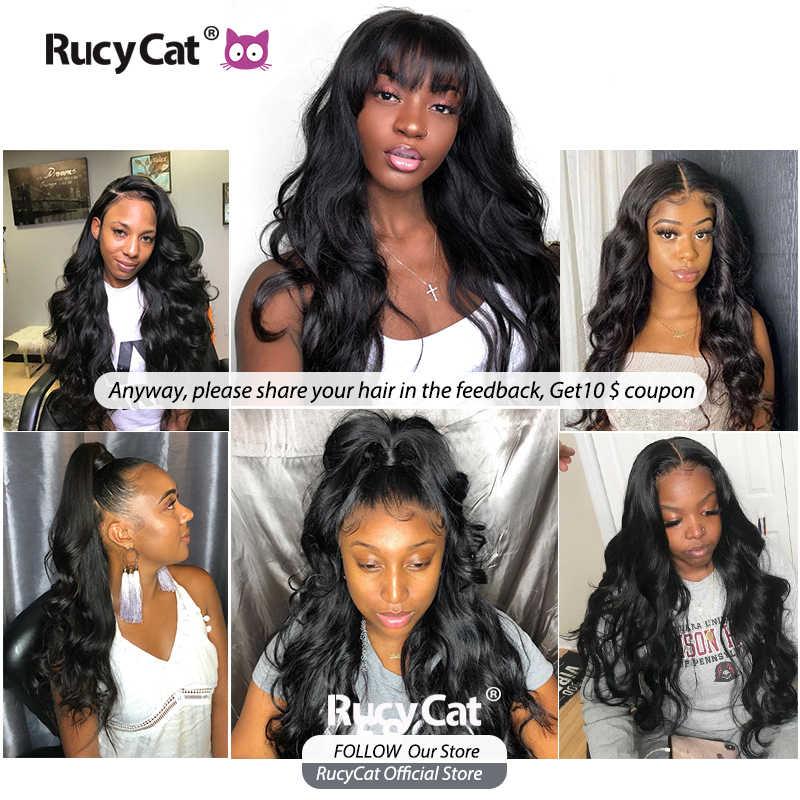 RucyCat 08-40 Inch Brasilianische Menschen Haarwebart Bundles Körper Welle 1/3/4 Bundles Natürliche Farbe Remy Haar Extensions