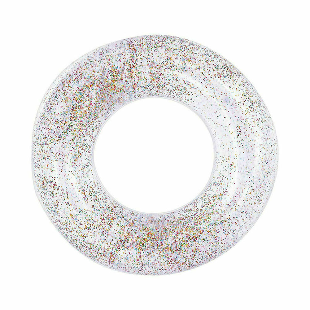 55cm Transparent  Life Buoy Inflatable Swim Tube Glitter Raft Round Swim Ring For Summer Pool ZJ55