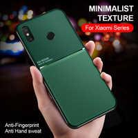 Funda de teléfono antihuellas mate para Xiaomi Mi 8 Lite Mi8 Se Mi8lite Mi8pro Mi8se funda magnética Redmi Note 8T Pro 8A
