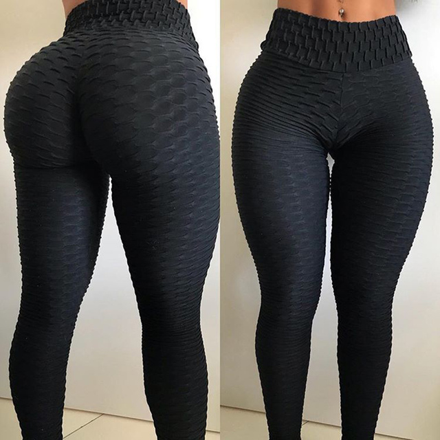 Hot Women High Waist Yoga Pants Sexy Workout Leggings sport fitness leggins anti cellulite gym tights Push up Running Trousers 2
