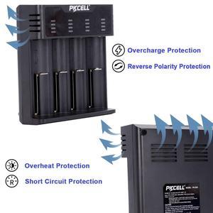 Image 5 - Inteligentna ładowarka do akumulatora PKCELL do 1.2v 3.7v AA/AAA 18650 akumulator NIMH/NICD wskaźniki ładowarki szybkie ładowanie