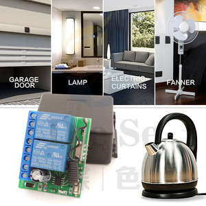 Image 2 - 433MHz Universal Wireless Remote Control DC 12V 2CH rf Relay Receiver and Transmitter for Universal Garage door and gate Control