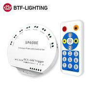 WS2812B Bluetooth APP Musik Controller mit Fernbedienung SP608E 8 CH SP602E 4 CH WS2811 WS2815 LED Licht Streifen IOS Android app 5V-24V