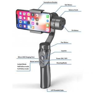 Image 3 - Handheld H4 3 Axis Gimbal Stabilizer Anti shake Smartphone Stabilizer for Cellphone Action Camera for Vlogging Live Broadcast