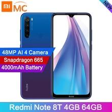 In Voorraad Global Versie Redmi Note 8T 4 Gb 64G 48MP Camera Cellphone 6.3 Display Snapdragon665 Octa core 4000 Mah 18W Google Betalen
