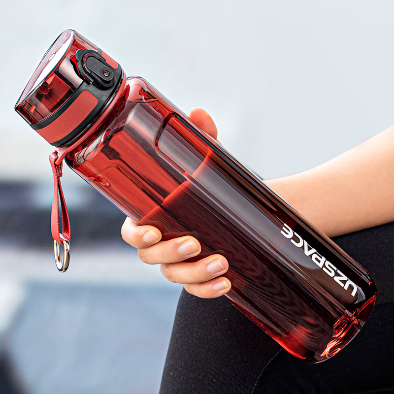 Water Bottle 500/1000ml Portable Leakproof Shaker Outdoor Sport Tour Direct Drinking Bottle Eco Friendly Plastic Bottle BPA Free