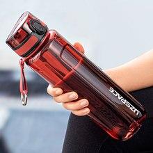 UZSPACE 500/1000ml Portable étanche bouteille d'eau Shaker en plein air Sport Tour Direct bouteille potable écologique bouteille en plastique sans BPA