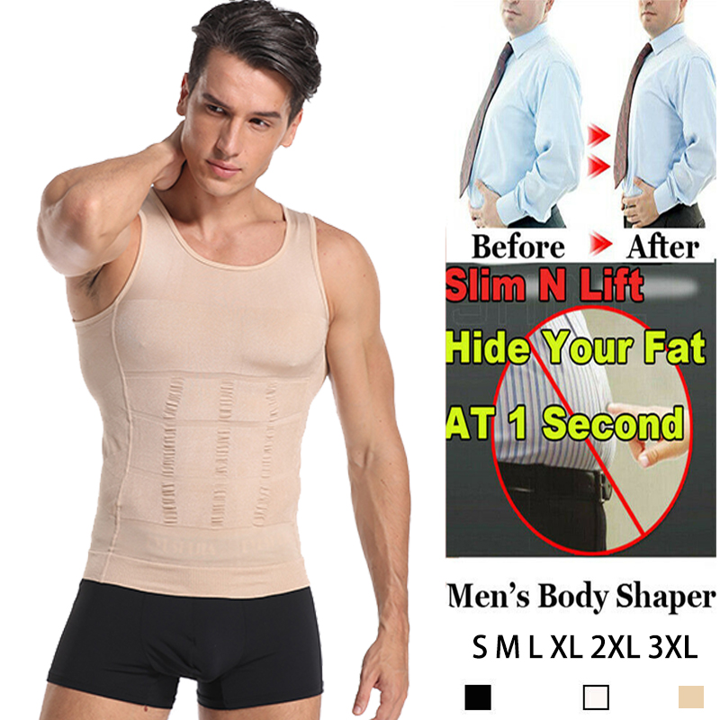 Classix Men Body Toning T-Shirt Hide Gynecomastia Compression Shirts For Men Slimming Body Shaper Vest Undershirt Muscle Tank