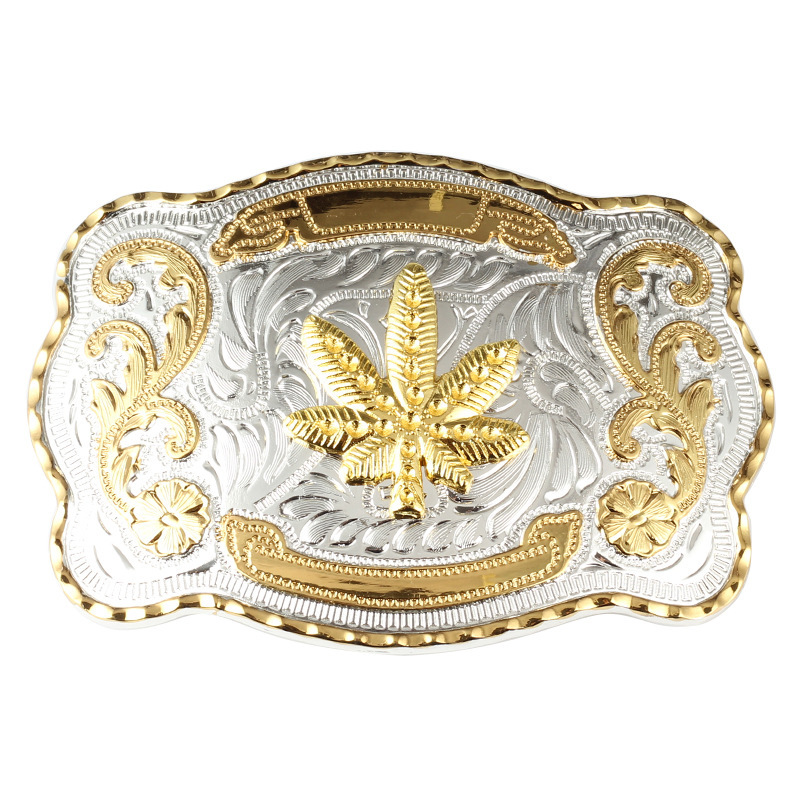 Golden Equestrian Belt buckle Bull head rooster scorpion pattern Western cowboy waistband accessories
