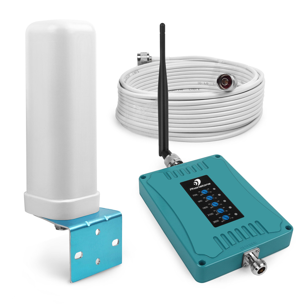 Australia GSM LTE 5 Band Mobile Phone Signal Booster 700/900/1800/2100/2600MHz 70dB 2G 3G 4G Repeater Amplifier For Voice & Data