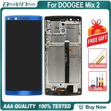 100% oryginalny do DOOGEE Mix 2 LCD i ekran dotykowy Digitizer z ramą moduł wyświetlacza naprawa akcesoria zamienne Mix2