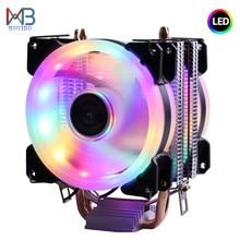 Verimli soğutma evrensel CPU soğutucu Fan 3pin Intel LGA 1150 için 1151 1155 1156 775 I3 I5 I7 AMD AM2 AM3 AM4 sessiz Ventilador