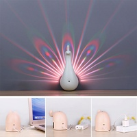 Touch Creative Wall Lamp New Strange Peacock Projection USB Remote control Night Light Novelty Lighting