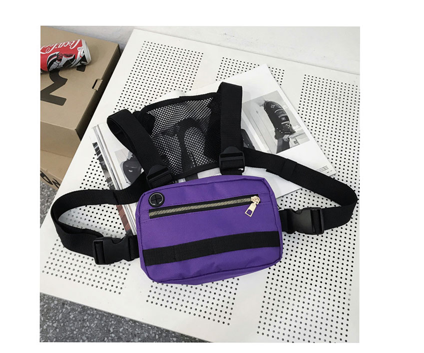 Hba627948277d49a8824d8d35b23454cee - Vest-Style Large Space Chest Bag Retro Square Chest Bag Streetwear Shoulder Functional Backpack Tactics Funny Pack G108