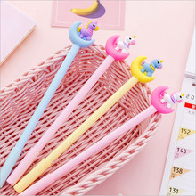 1pcs/lot Cartoon dreamy girl moon unicorn gel pen Signature Pen Gifts for girlfriend graduation Gift(China)