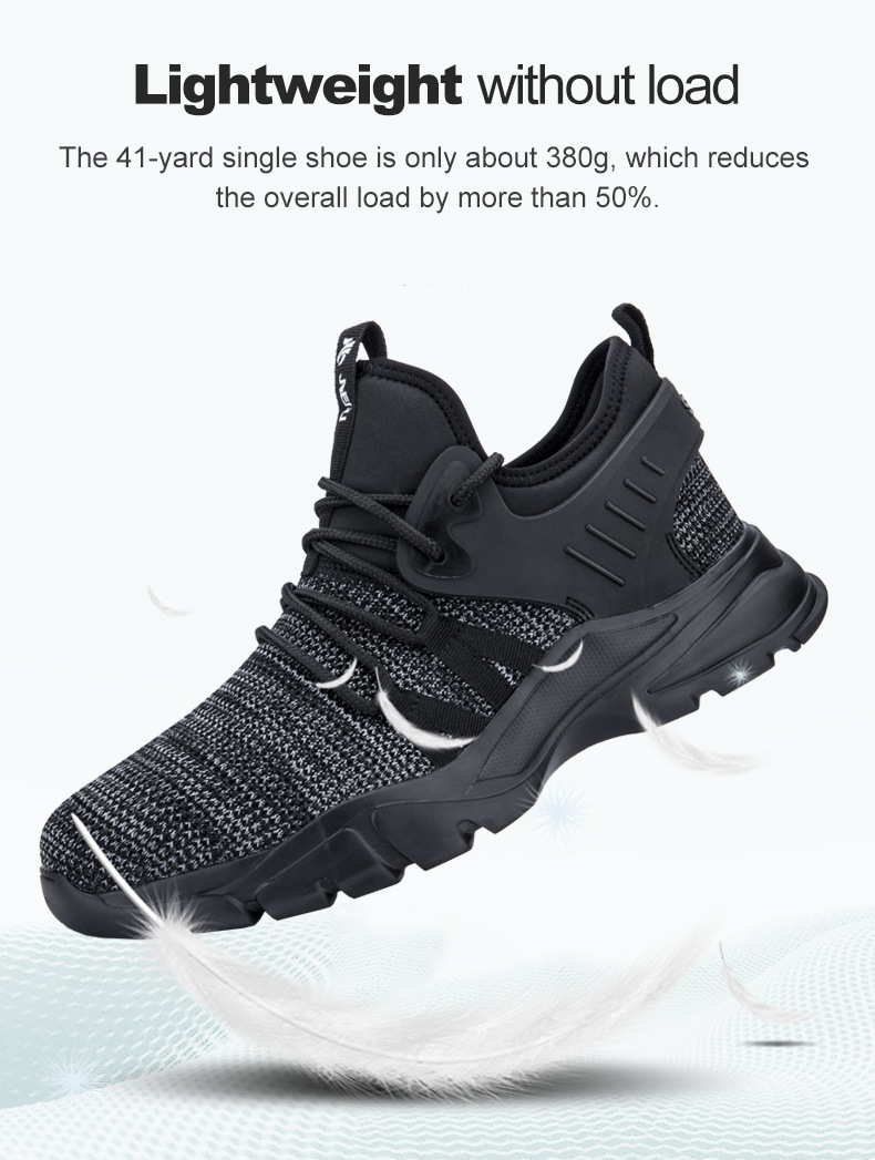 2019 Fashion Designer Steel Toe Work Safety Shoes Men Puncture Proof Man Boots Breathable Light Industrial Indestructible Shoes