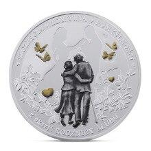 Испанский любить памятная монета серебро позолоченный сувенирные художественные коллекции монет подарочные маркер Drop доставка