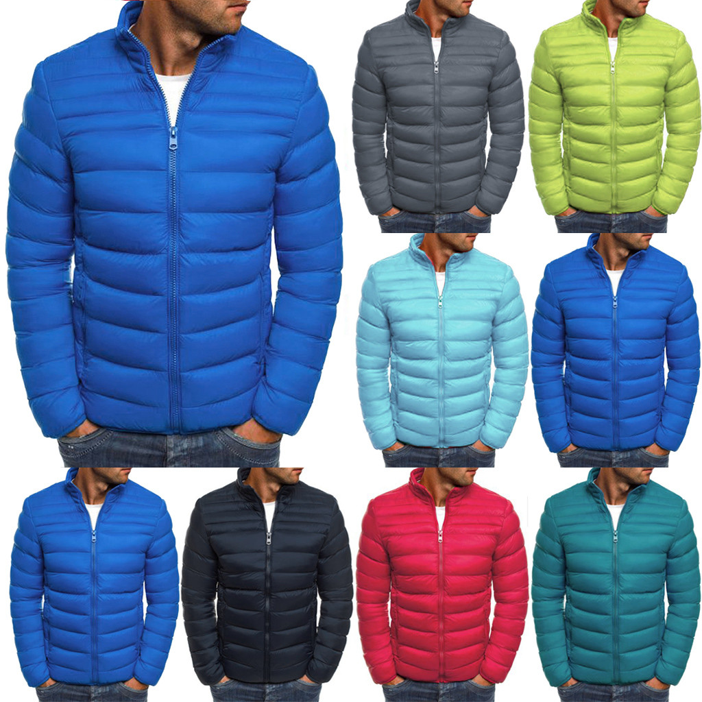 2019 New High-end Warm Fashion For Men Feather Hooded Down Jacket Long Sleeve Solid Color Down Jacket Jacket Top
